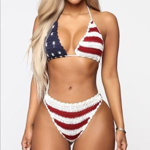 Fashion Nova American Flag Bikini